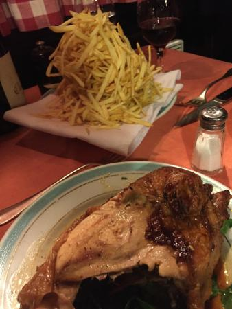The famous Poulet Roti for 2 with Matchstick Fries - Picture of Chez l ...