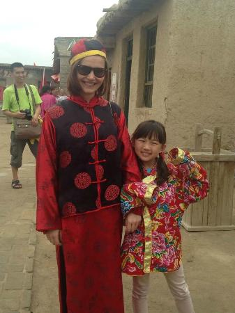 Helan County, China: Trying on traditional costumes was fun