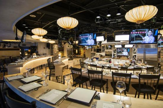 The cooking show at rustic kitchen boston ma address for Show kitchen design
