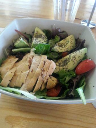 Avocado Delight with all natural grilled chicken mmm