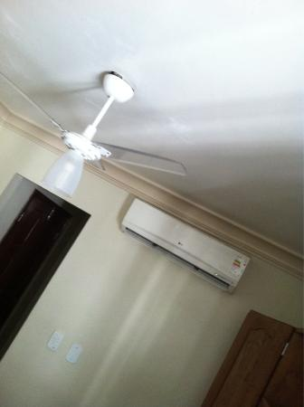 Village Novo: Ac is brand new and very powerful, with optional ceiling fan (better for sleep)