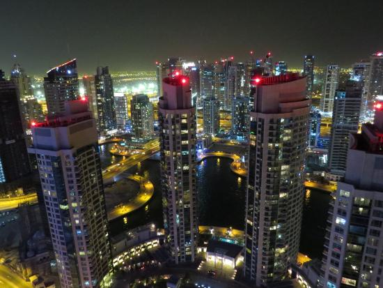 Emirate of Dubai, United Arab Emirates: The View at night