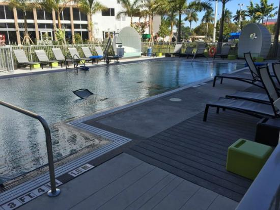 Chaise lounge chairs and or other furniture in pool for 7 furniture doral fl