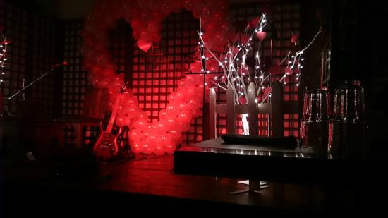 Valentine stage decoration feb 2015 picture of out of Valentine stage decorations