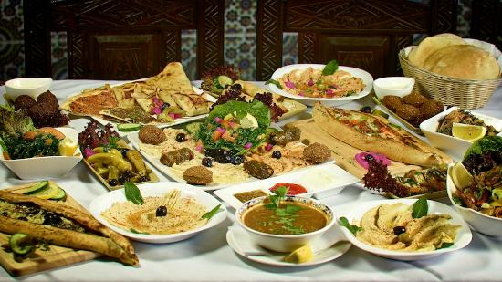 A selection of our famous lebanese starters picture of for Arabian cuisine menu