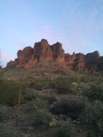 View looking southeast picture of superstition mountains for Auberge maison otis