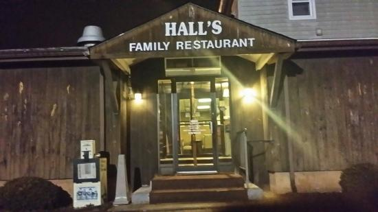 Wyoming, DE: The Side and Main Entrance to Halls Family Restaurant.