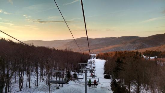 View of Bolton Valley from ski lift
