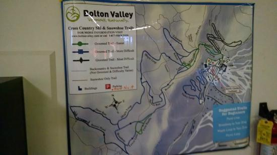 Bolton Valley, VT: Area snow shoe trail map