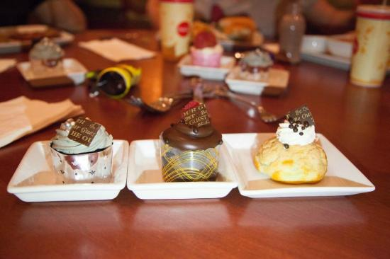 Master's Cupcake, Triple Chocolate, and chocolate cream puff - Picture ...