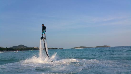 Girl power - Picture of Flyboard Koh Samui Chaweng Beach ...