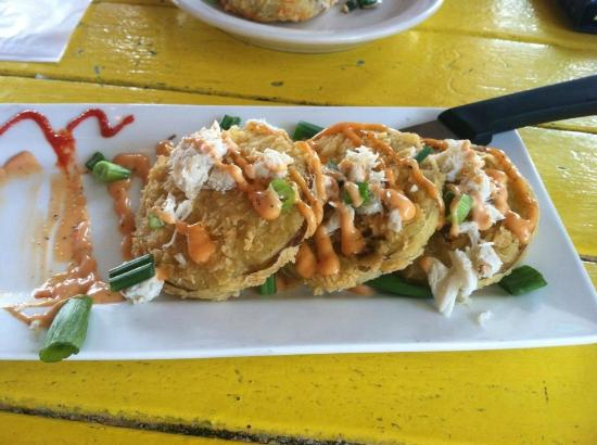 Shaggy's fried green tomatoes with crab meat & remoulade ...