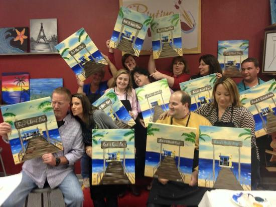 Rod and reel picture of painting with a twist bradenton for Painting with a twist chicago