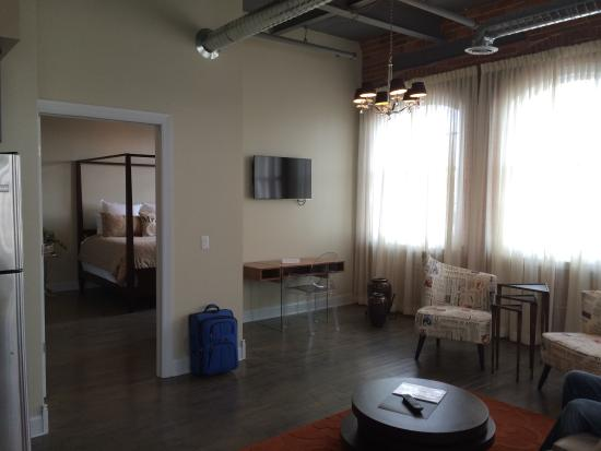 Bridal suite living room to bedroom picture of foundry for The family room buffalo ny