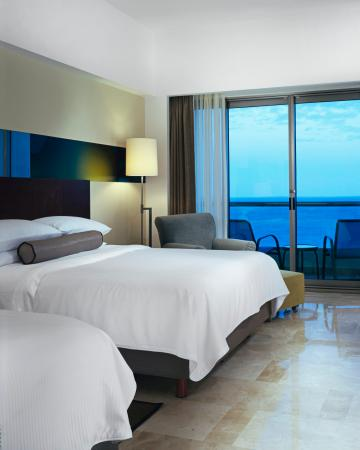 Deluxe room 2 double ocean view picture of live aqua cancun all inclusive cancun tripadvisor for Live aqua cancun garden view room