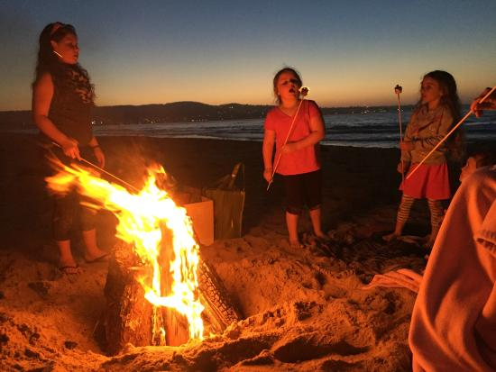 Bonfire On The Beach Monterey Ca