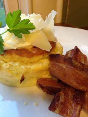 Goats Cheese Souffle with Crispy Bacon - Picture of Ashland, Oregon ...