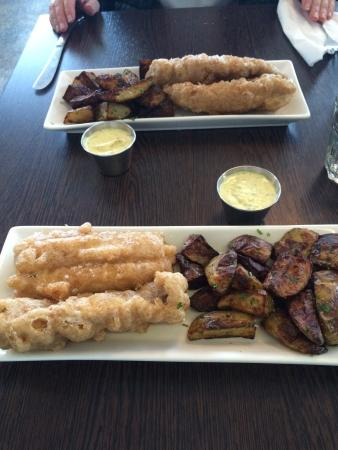 Fresh fish cooked with an incredible breading rosemary for Icelandic fish and chips nyc