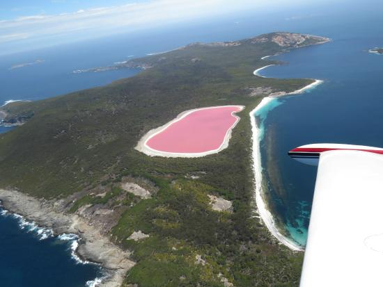 Grab a copter and visit Lake Hillier!