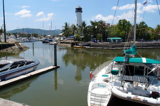 The Faux Lighthouse At Boat Lagoon Picture Of Royal Lighthouse Villas At Boat Lagoon Rawai