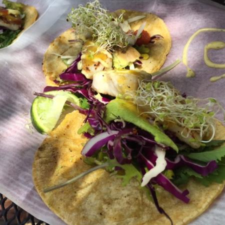 Mmmm - fresh fish tacos! - Picture of Jack's Shack, Rincon ...
