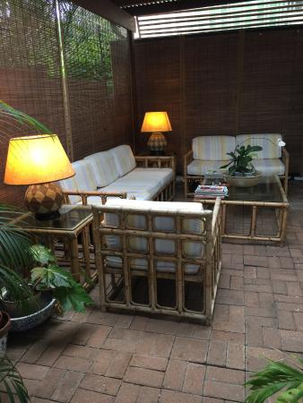 Manaar House: Our private patio
