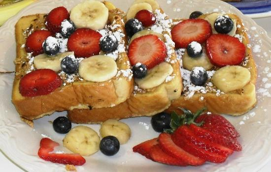 """Port Saint Lucie, ฟลอริด้า: Our Signature French Toast ~ """"Crispy Almond or Coconut Flavored"""""""