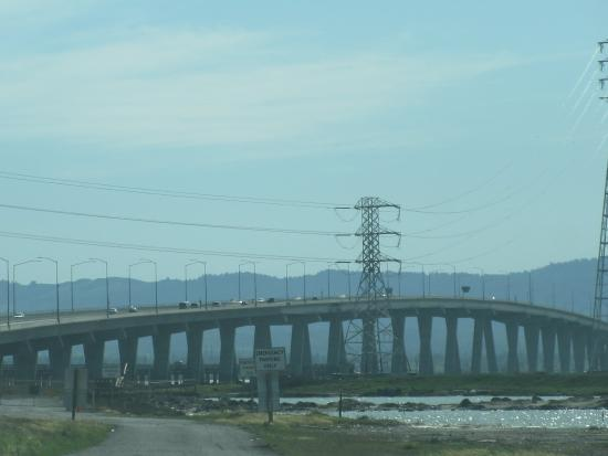 View From Drive Across Dumbarton Bridge Fremont Ca