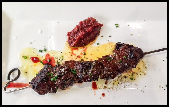 Steak Skewer Amazing Tomato Jam Picture Of Boiler House Texas Grill And Wine Garden San