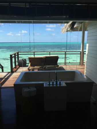 LUX* South Ari Atoll: View from bath in room