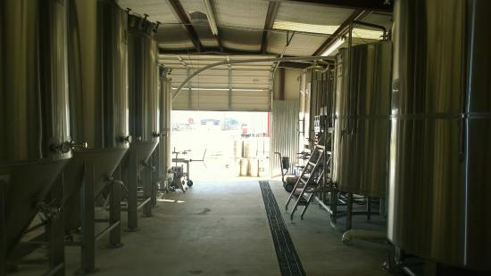 Bellville, TX: View from the brewhouse at Huff Brewing Company