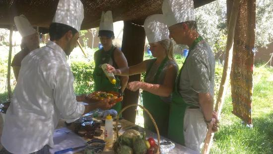 Cooking for Atelier cuisine marrakech