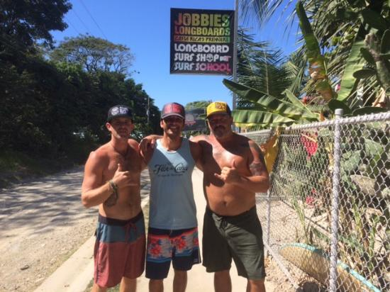 Mal Pais, Costa Rica: Chris and Bubba, two of the supernumberone crew