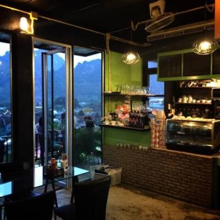 Our bar picture of balcony hill cafe restaurant phang for Balcony restaurant bar