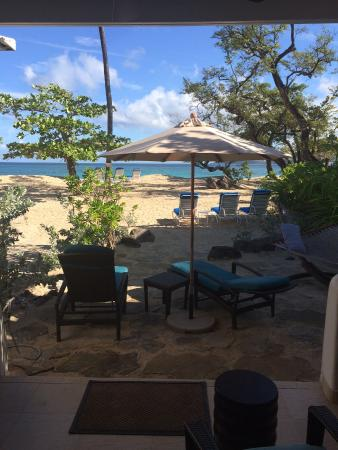 Spice Island Beach Resort: View from our patio doors !