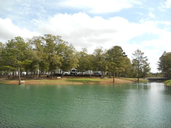 Awesome rally location review of fair harbor rv park for Pool show agricenter