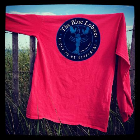The Blue Lobster: Classic Blue Lobster long sleeve in watermelon.