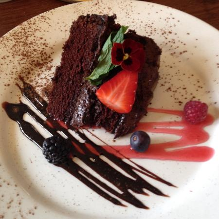 Chocolate fudge cake almost too pretty to eat! - Picture of The Star ...