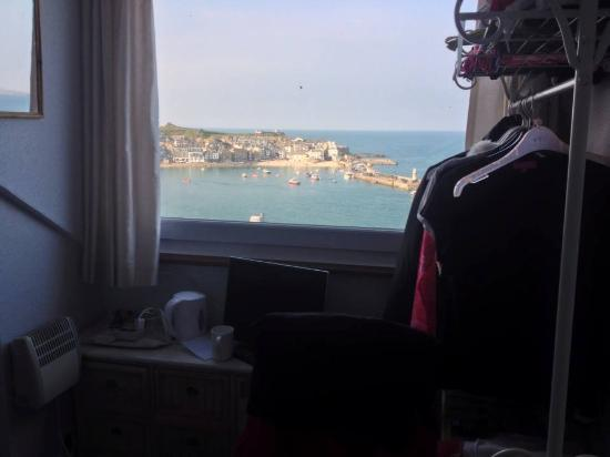 Golden Hind Guest House: View from room.