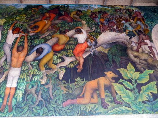 A portion of diego rivera 39 s mural history of morelos for Diego rivera mural 1929