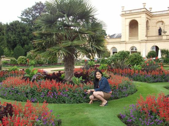 In the beautiful garden outside the house picture of for Beautiful gardens and maintenance