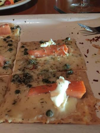 Smoke salmon flat bread picture of city fish grill for City fish oldsmar