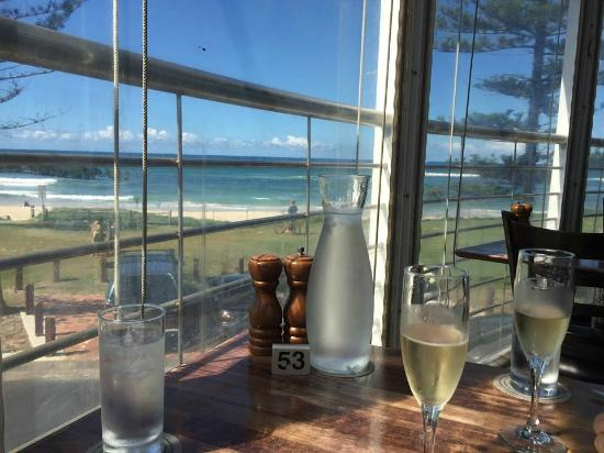 View from our table at the beef and beach restaurant for Balcony restaurant byron