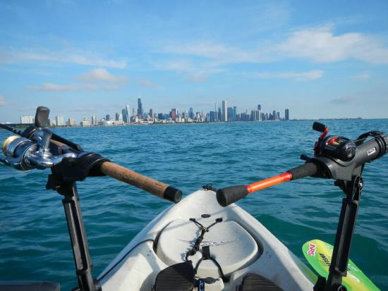 Sailing away in the hobit tandem island at chicago water for Fishing in chicago