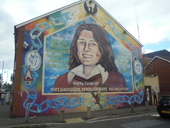 Bobby sands mural picture of falls road belfast for Bobby sands mural falls road