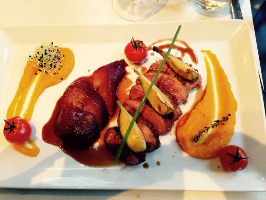 Duck Breast with Poached Pear - Picture of Restaurant Cote Place ...