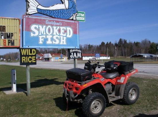Best jerky ever gustafson 39 s in brevort mi picture of for Gustafson s smoked fish