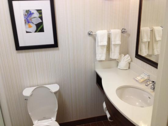 Bathroom Picture Of Hilton Garden Inn Lincoln Downtown Haymarket Lincoln Tripadvisor