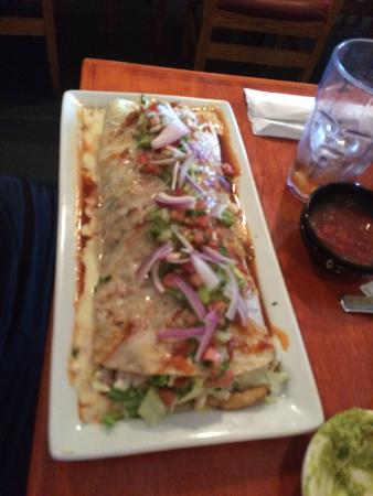 Smothered Burrito With Grilled Chicken Picture Of