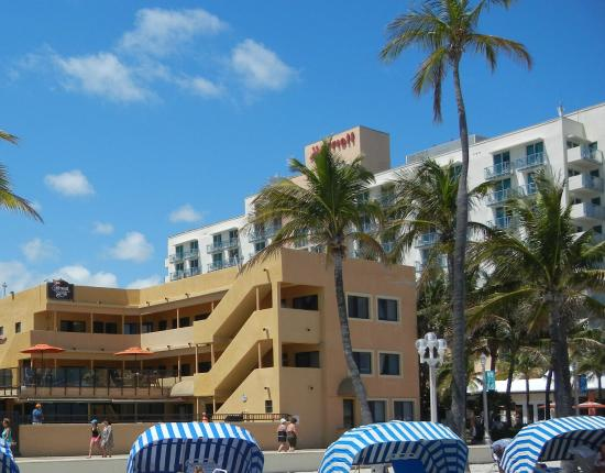 Hollywood Sands Resort: This is how close the hotel is to the beach.